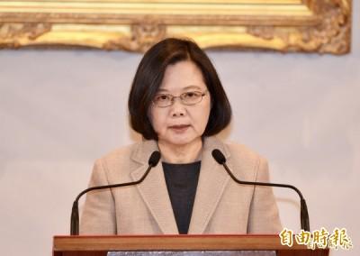 小英稱台灣能擋中國第一波進攻 藍委竟轟:總統必須道歉