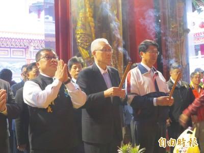台南輔選跨區拜媽祖 吳敦義:祈求兩岸和平相處