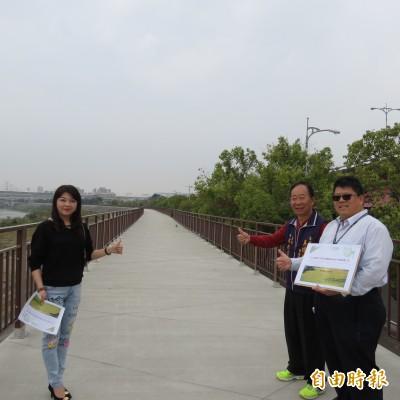 烏日環河路堤防建置1.2公里自行車道 預計6月完工