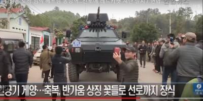 川金二會保護金正恩 越南裝甲車出動