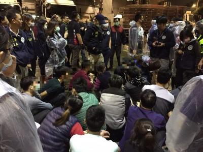 失聯移工躲萬華屠宰場殺雞宰羊 移民署一舉查獲22名