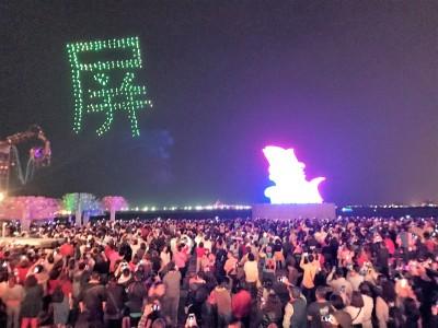 全台唯一無人機燈光秀 228連假台灣燈會每天演出