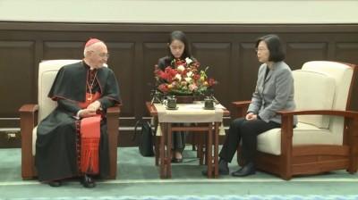 罕見! 總統、副總統先後接見教廷樞機主教