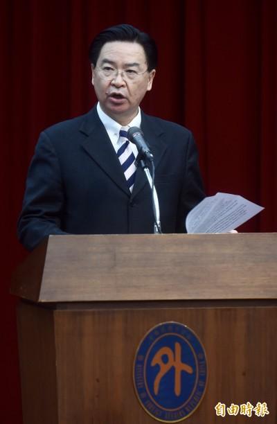 吳釗燮:中國為轉移壓力  近期不排除再搶我邦交國!