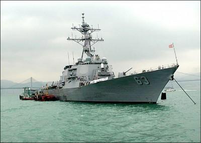 美艦上月再穿越台海 中媒分析:顯示美支持蔡英文連任