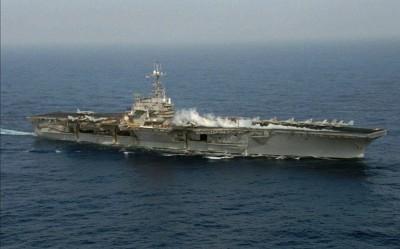 AIT貼航母巡弋台海歷史照 網:當年準備和共匪一搏