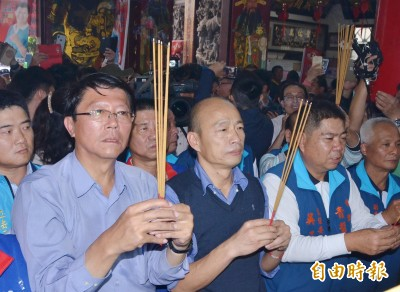 韓國瑜佳里為謝龍介站台 支持者簇擁