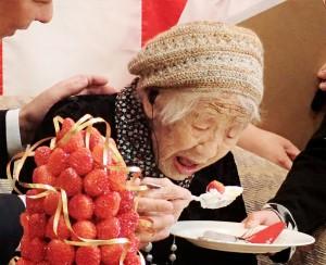 金氏紀錄認證!116歲日本阿嬤 全球最長壽人瑞