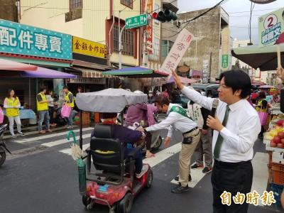 再陪郭國文佳里掃街     賴清德:為台灣爭一口氣