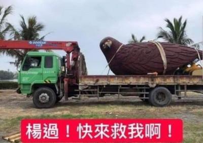 台灣燈會老鷹花燈被綁走了!網笑:楊過、小龍女快來救