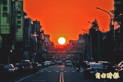 「曼哈頓懸日」美景 苗栗也看得到!