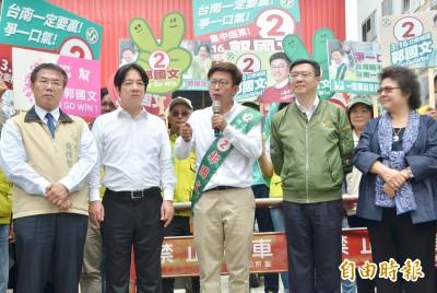 台南立委補選決戰明天  郭國文:台灣好生活與中國討生活之爭