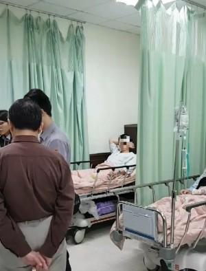 桃機航廈內遭「公主抱」墜樓 夫妻倆送醫無生命危險