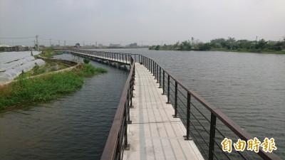 台南六甲「小水庫」 百年歷史埤塘改造觀景設施