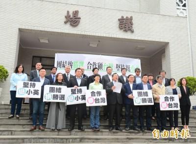 「保黨護台灣!」 27位民進黨立委表態挺蔡英文
