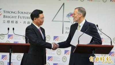 AIT處長首度到外交部開記者會 「美台全新對話機制非挑釁中國」