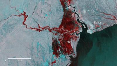 太空可見! 熱帶氣旋伊代重創非洲 170萬人受災