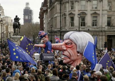 2003以來最大! 倫敦反脫歐遊行人數近百萬