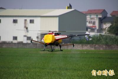 無人機噴農藥超快 1分鐘可噴1到2分地