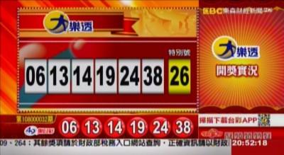 3/26 大樂透、雙贏彩、今彩539 開獎囉!