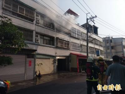 民雄農工前住宅傳火警 疑自3樓起火