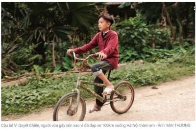 騎100公里單車累倒路邊 越南男童:只為了見早產弟弟一面
