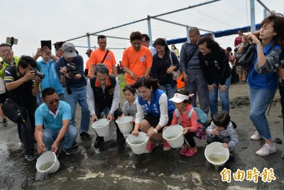 預約熱鬧海洋生態  台西放流3萬尾魚苗
