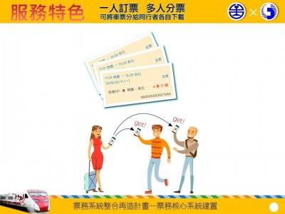 「台鐵e訂通」全新改版 首度提供電子票券、多人分票功能