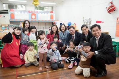 有感兒童節禮物 蔡英文:113年達成7成平價教保服務目標