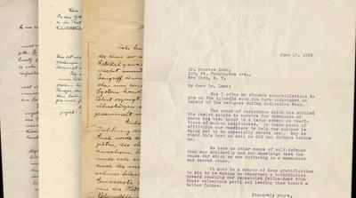 414萬元!愛因斯坦二戰初期信件標出