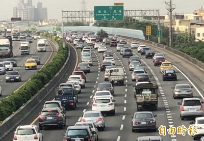 國道中部紫爆 大塞25公里