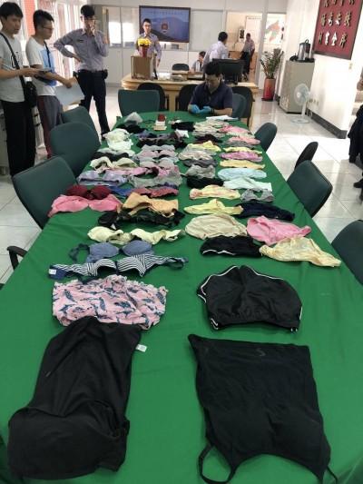 女生宿舍貼身衣遭竊 警逮21歲零工男