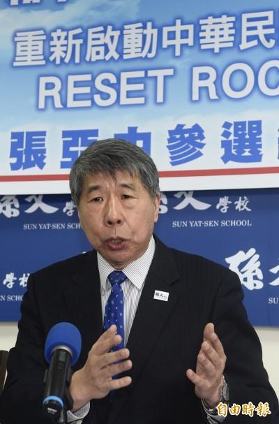 吳敦義表態不選2020 張亞中要求續辦黨內初選