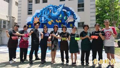 台南這校彩繪3D地景藝術 「校鵝阿寶」入畫