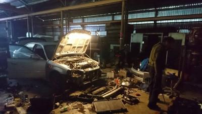5分鐘竊車4小時解體銷贓  林口警搗破汽車解體工廠