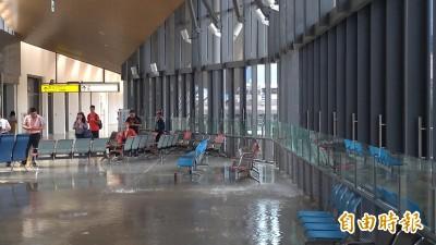 花蓮地震 台鐵花蓮站爆水管大廳淹水