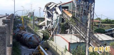 宜蘭水泥儲槽地震倒塌壓毀電線1345戶停電 驚險過程全都露