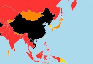 中國新聞自由度被評為「黑洞級」 香港媒體遭中聯辦控制
