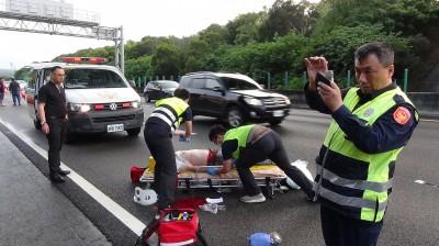 快訊】進香男子突跳10米高陸橋 墜國3苗栗段慘死