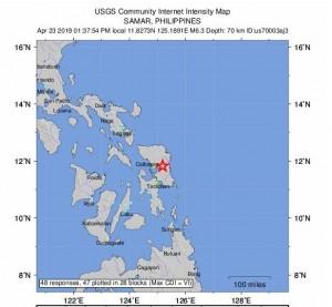 菲律賓昨強震11死 今又發生規模6.3地震