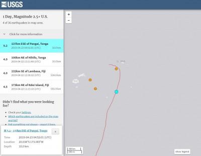 東加鄰近海域4連震 最大規模5.2