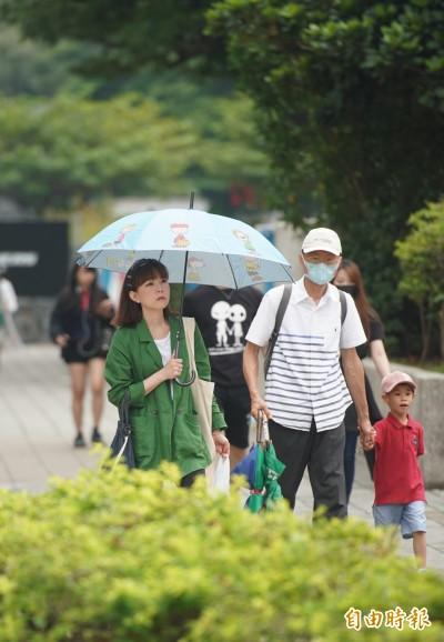台北白天飆35.4度 刷新今年最高溫