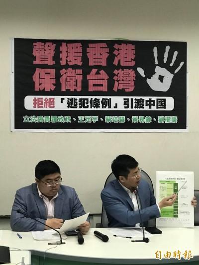 綠委批「逃犯條例」損人權 籲陸委會速與港府簽司法互助協議