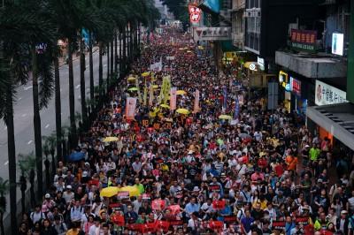 聲援香港「反送中」大遊行 吳釗燮:一國兩制就是「神話」