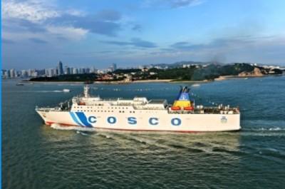 中國解放軍演習 這艘兩岸的客貨輪航線剛好在演習區…