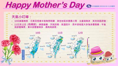 週日就是母親節 天氣狀況?一張圖秒懂!