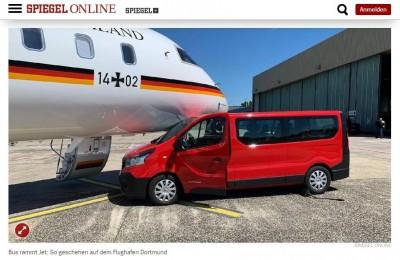 德總理座機被撞! 疑梅克爾粉絲見到本尊太嗨忘煞車