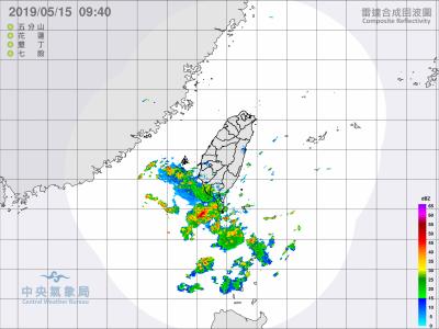 對流雲系發展移入 西南部2縣市恐有劇烈雷雨