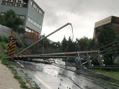 雨灌新豐鄉!瓜田全泡湯 電桿倒整排釀2000戶停電