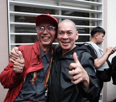 知名導演蔡明亮現身同婚現場 自曝:完成40年前想做的事